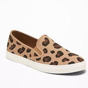 Old navy leopard print slip on sneakers